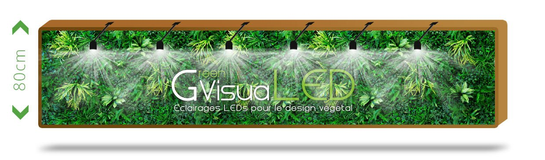 Support GU10 pour cadres et murs vegetaux LED
