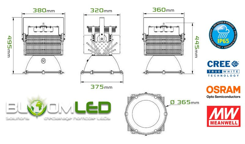 Caracteristiques lampes horticole led culture chanvre