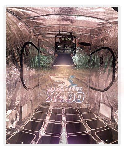 Eclairage horticole LED floraison 120cm x 120cm spectrabud cree cxb osram oslon ssl