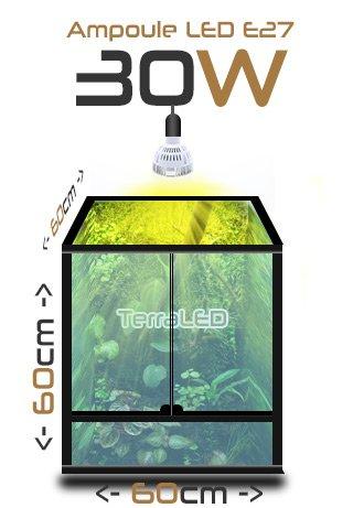 Eclairage de terrarium terraled 30w osram