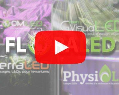 Vidéo lampes horticoles LEDs floraled culture de plantes en intérieur led horticole bloomled greenvisualed